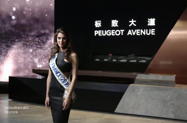 Iris a l'inauguration du Peugeot Avenue de Pékin