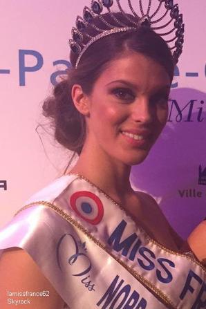 Laurine Maricau, Miss Flandre, élue Miss Nord Pas-de-Calais 2016