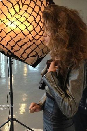 Iris en shooting Day pour Talent Lab
