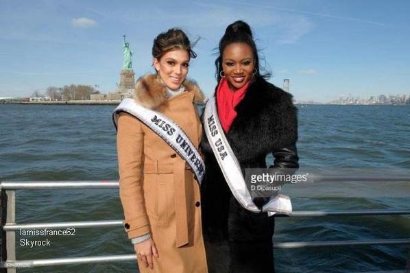 Iris avec Miss U.S.A.