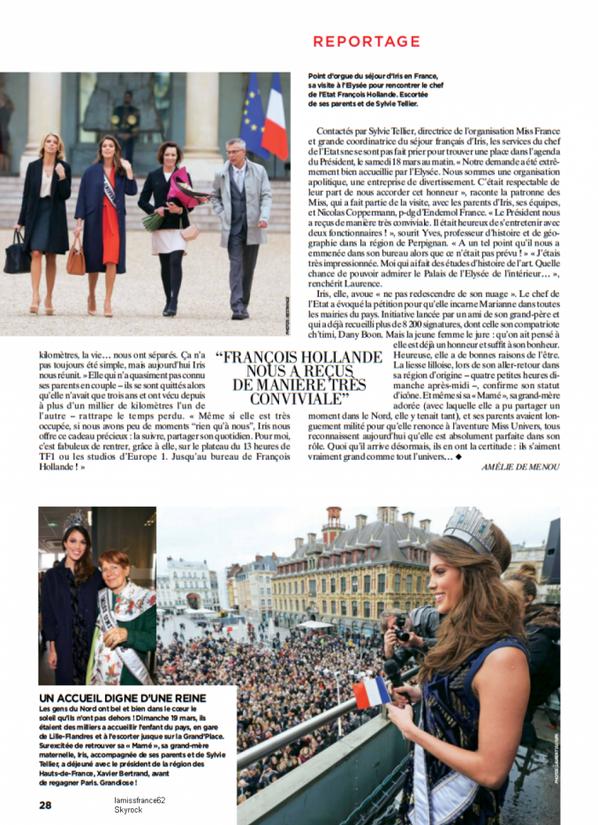 Iris dans le Paris Match / Magnifique
