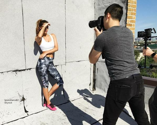 Iris en shooting fitness