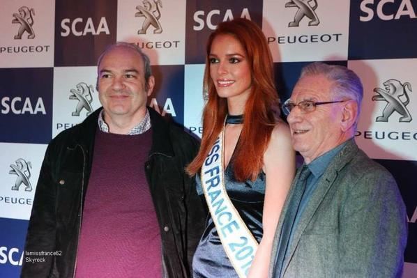 Maëva a l'inauguration de la nouvelle concession Peugeot à Angoulême