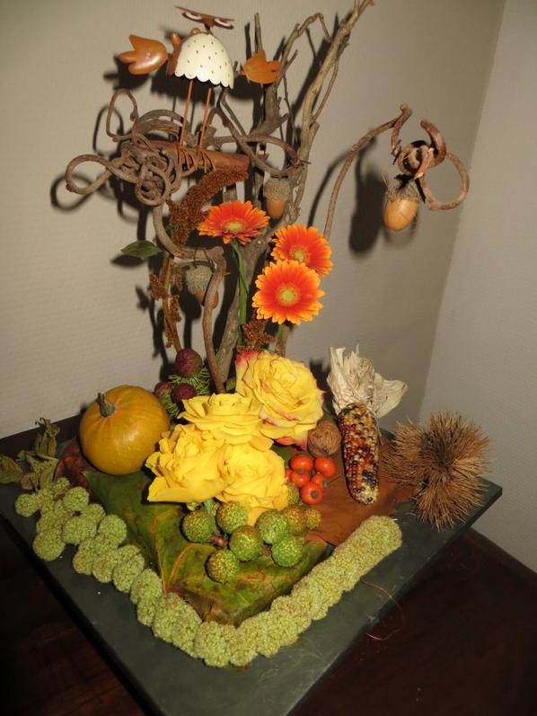 """Montage d'automne chez"""" Passion de l'art floral"""""""