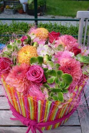 cocktail de fleurs! Atelier chez Olivier Seghin