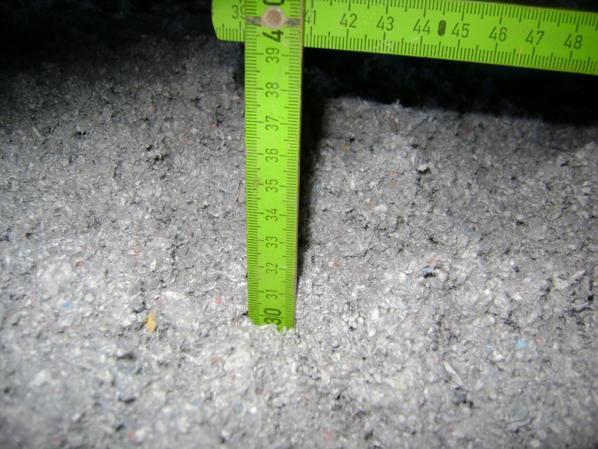 isolation du sol a la ouat de cellulose