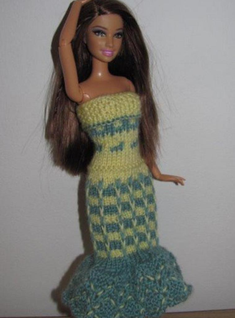tuto tricot : robe Barbie