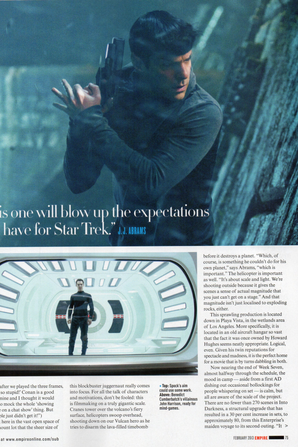 EMPIRE - Benedict Cumberbatch - scans