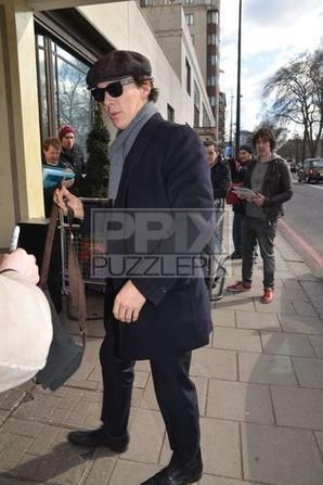 Arrivée de Benedict aux South Bank Sky Arts Awards