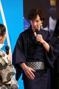 Benedict Cumberbatch en Kimono au Japon pour Star Trek