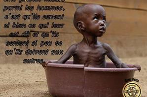 « Vivre plus simplement pour que d'autres puissent simplement vivre. » Gandhi