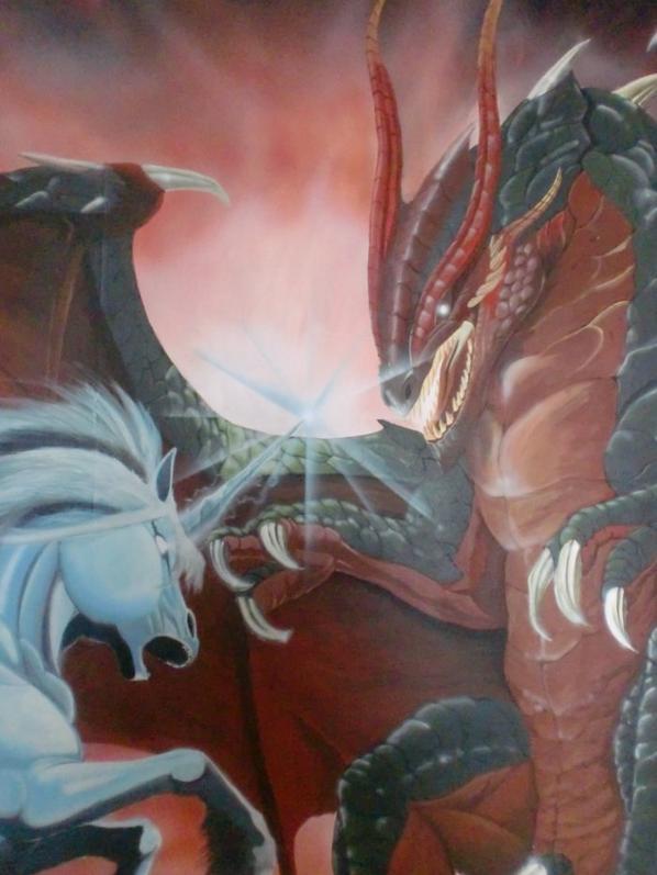 la licorne et le dragon