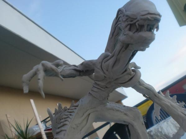 Alien en sculpture