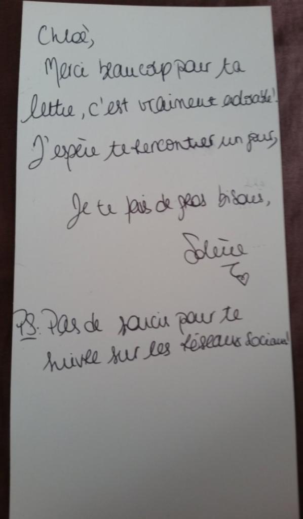 Dédicace Solène Salmagne !