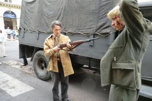 photos de mon tournage du jour .....paris aujourdhui .scéne de libération
