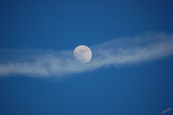 Quand la lune se dévoile ........