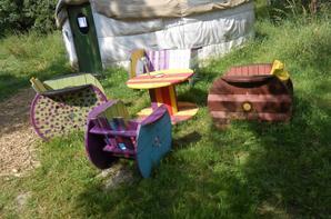 au camping  eco-camping le village des toilesde la fênaie