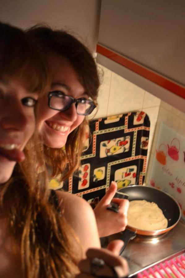 Making pancakes !