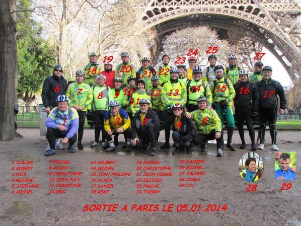 Sortie club à paris 2014