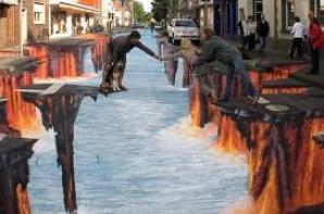 Le street art/painting 3D