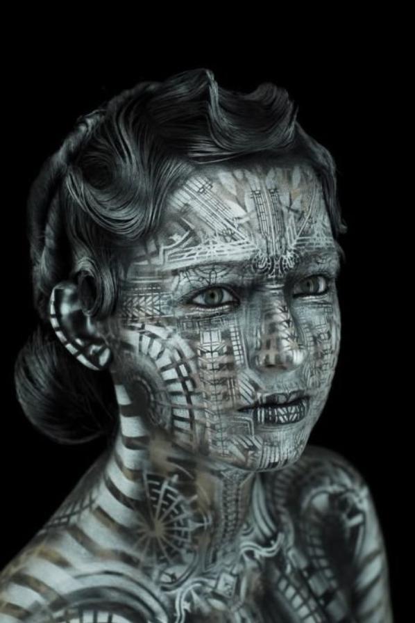 Body art/painting.