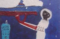 """Nos peurs bleues"" Peintures du plasticien comorien SEDA au SIAO 2012 à Ouagadougou Burkina Faso"