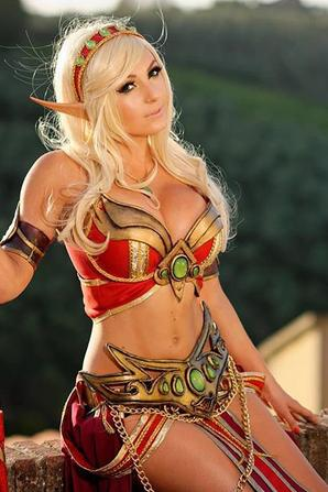 Cosplay de Blood Elf (World of Warcarft)