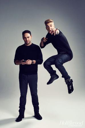 Justin Bieber et Scooter Braun trés sexy en couverture de The Hollywood Reporter