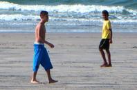 """Justin Bieber trés hot dans son boxer bleu ethika à la plage, Panama """"Part 3"""""""