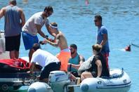 Justin Bieber trés sexy sur un yacht à Ibiza, Espagne