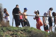 Justin Bieber trés sexy faisant son jogging à Runyon Canyon avec Kendall Jenner et Ryan Butler à Los Angeles, Californie