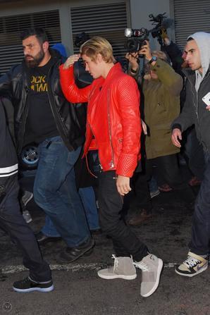 Justin Bieber au défilé de Kanye West à New York.