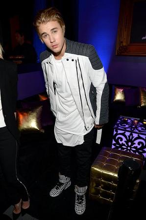 Justin Bieber à l'after party de Comedy Central Roast à Los Angeles, CA.