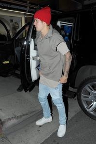 Justin Bieber dans Beverly Hills, CA.