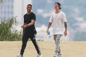 Justin Bieber au Runyon Canyon à Los Angeles, en Californie.
