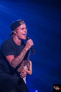 Justin Bieber sur scéne à l'American Airlines Arena à Miami, Floride