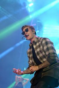 Justin Bieber en concert au Wango Tango 2015 au centre de Stubhub à Carson, en Californie.