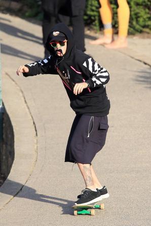 Justin Bieber avec des amis à Sydney, en Australie.