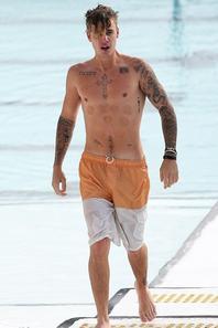 Justin à l'Iceberg de Bondi à Sydney, Australie