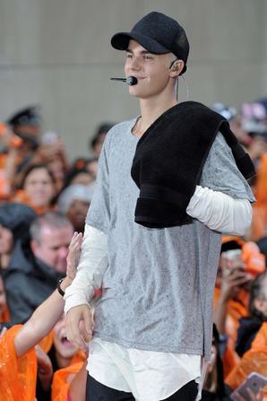 Justin Bieber sur scène pour l'émission The Today Show