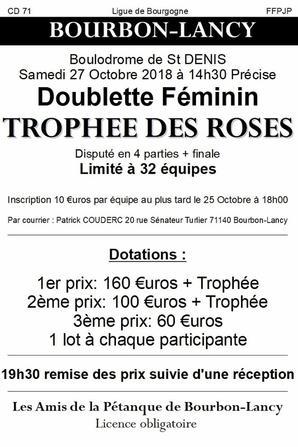 TROPHEE DES ROSES. BOURBON LANCY.