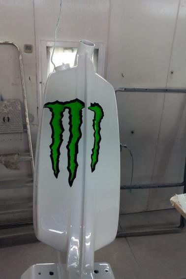 Finie la peinture pour le 103 monster
