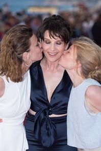13 Juin 2015 - Mélanie Thierry, Céline Sallette et Juliette Binoche au 29e Festival de Cabourg.