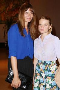 Mélanie Laurent entre Marina Hands et Mélanie Thierry - Dîner de Gala dans le cadre de la grande campagne du Théâtre National de Chaillot pour la rénovation du Grand Foyer et de ses trésors Art Déco à Paris, le 29 juin 2015. Cette campagne est soutenue par la maison Lancel.