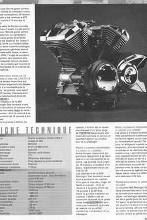 conception de la 950 XVS MIDNIGHT STAR