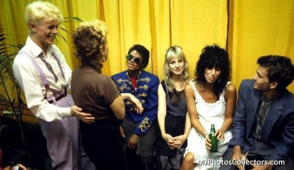 Bette Midler, David Bowie, Michael Jackson et la chanteuse Cher