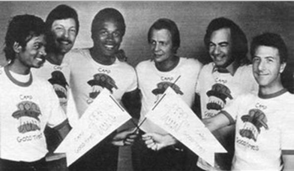Michael avec entre autres, Dustin Hoffman et David Soul
