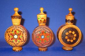 ✿ Flacons à parfum en bois - BULGARIE ✿