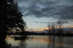 Images paisibles de l'Aisne débordante...