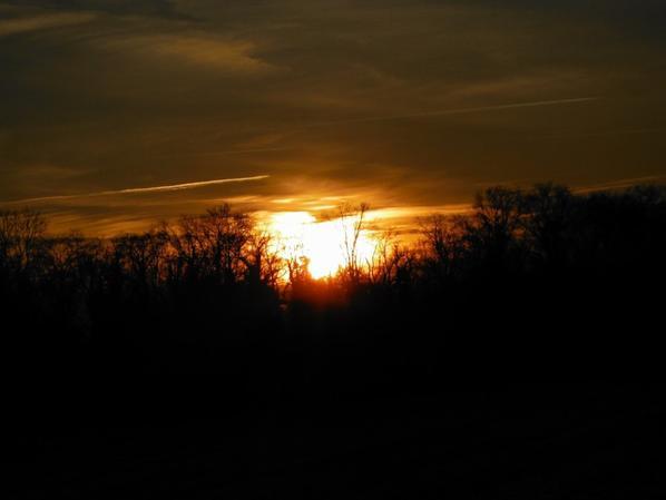 Après un superbe coucher de soleil...